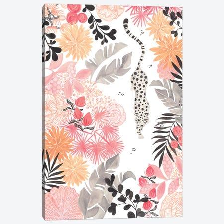 Stalking Leopard Paper White Full Canvas Print #CTA67} by CreatingTaryn Art Print