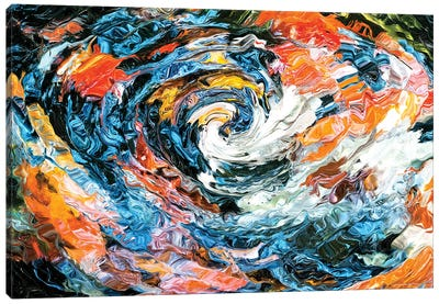 Koi Swirl Canvas Art Print