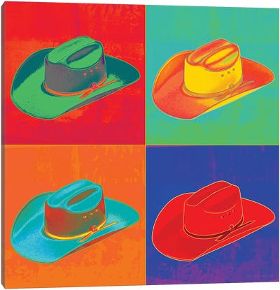 Pop Art Cowboy Hats Canvas Art Print