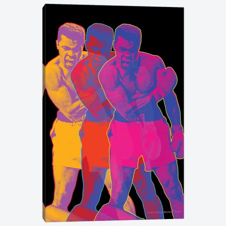 Pop Muhammad Black Canvas Print #CTB31} by Christopher Brown Canvas Wall Art