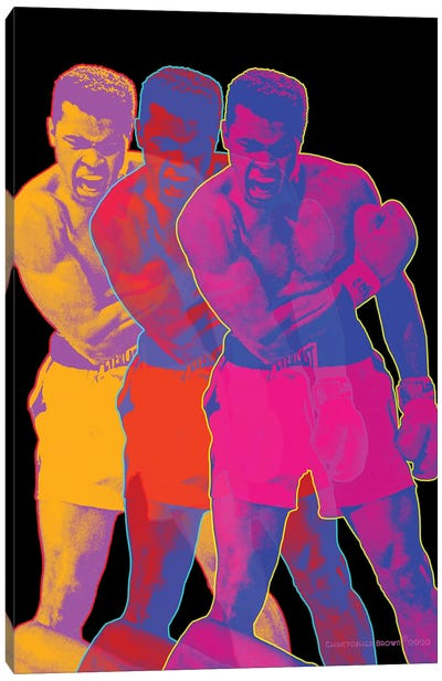 Pop Muhammad Black Canvas Art Print