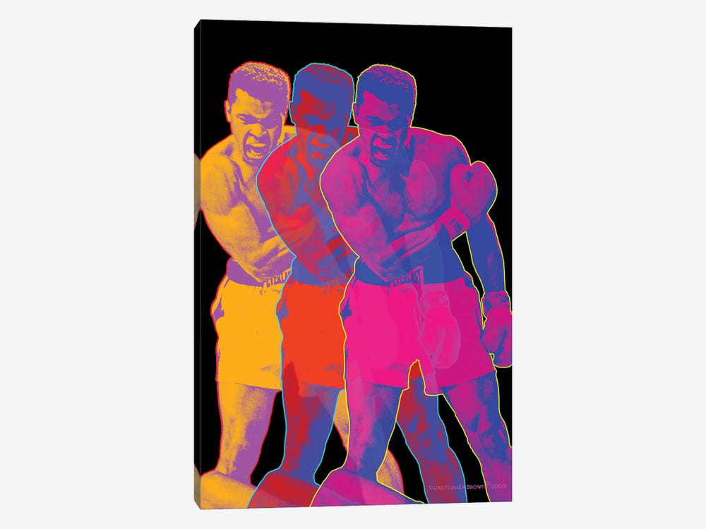 Pop Muhammad Black by Christopher Brown 1-piece Canvas Wall Art