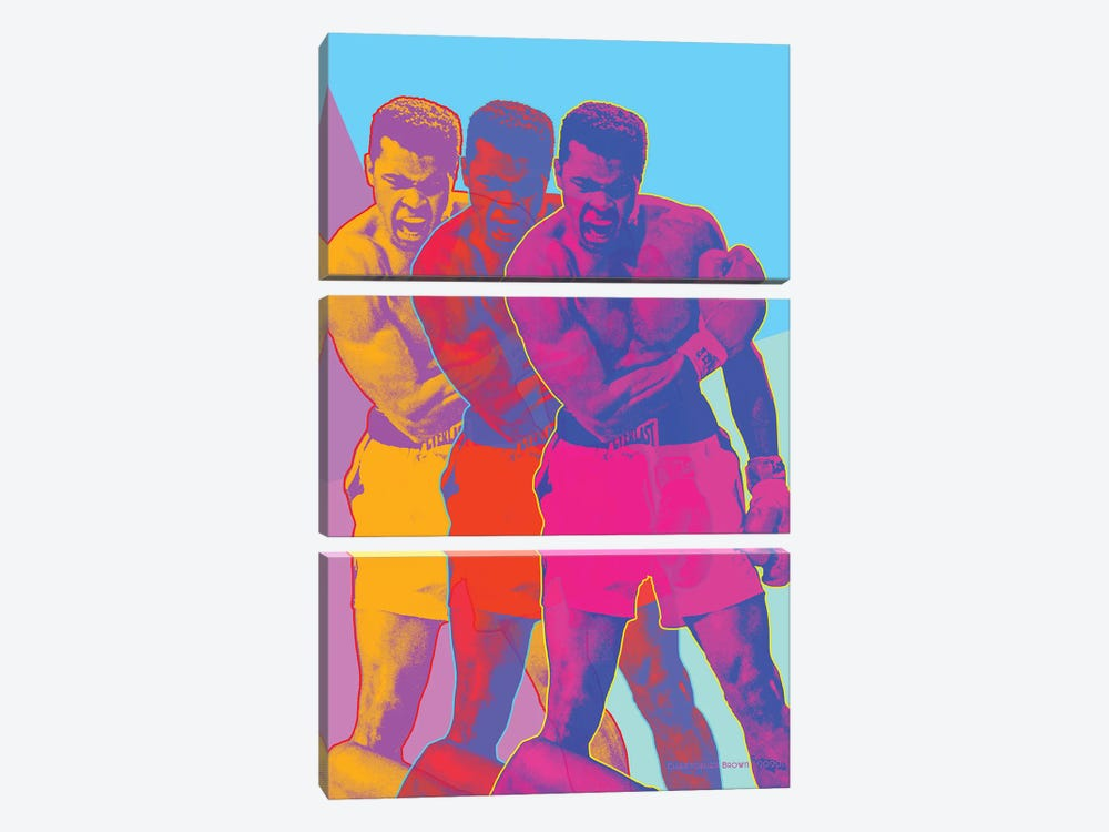 Pop Muhammad by Christopher Brown 3-piece Canvas Print