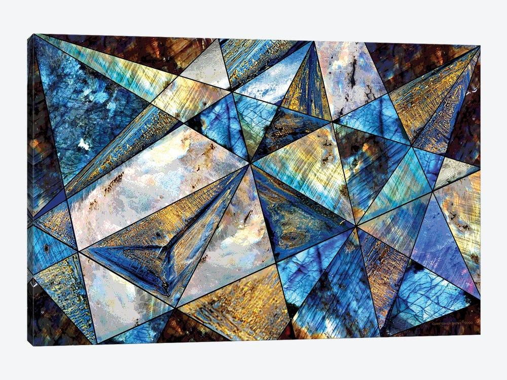 Triangles by Christopher Brown 1-piece Canvas Print