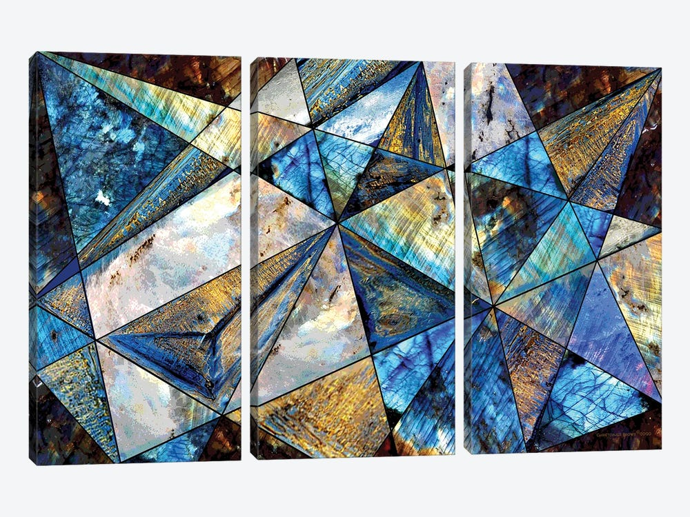 Triangles by Christopher Brown 3-piece Canvas Art Print