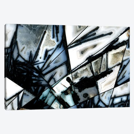 Black White Agate Canvas Print #CTB4} by Christopher Brown Canvas Art