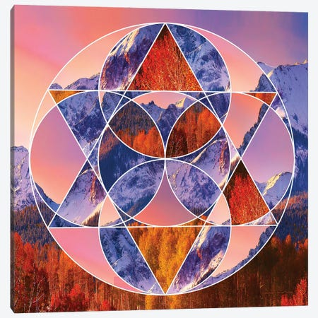 Circle Of Life Canvas Print #CTB6} by Christopher Brown Canvas Wall Art