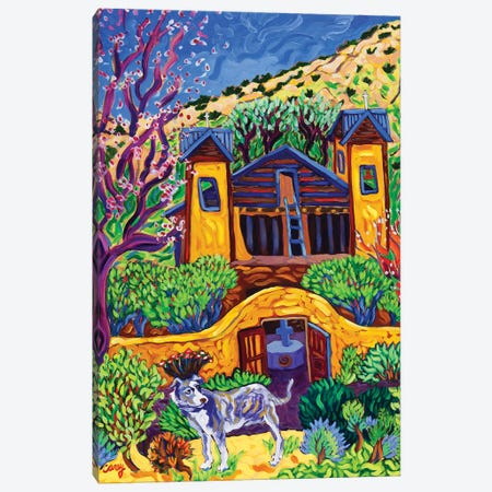 The Chimayo Greeter Canvas Print #CTC16} by Cathy Carey Canvas Art