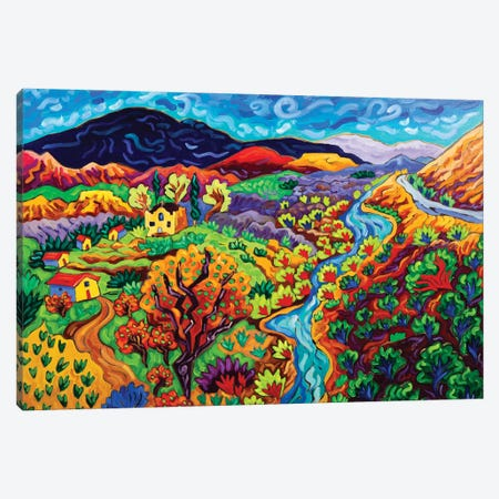 The Long and Winding River Canvas Print #CTC29} by Cathy Carey Canvas Artwork