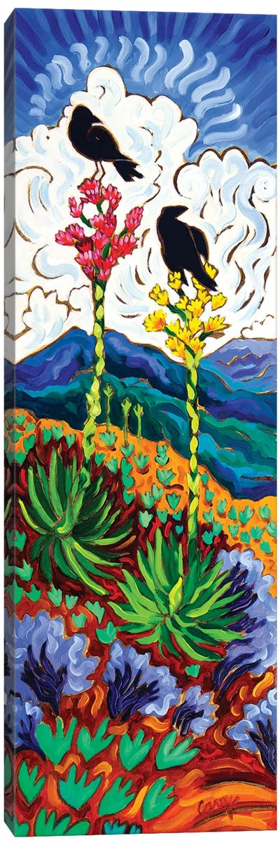 The View Canvas Art Print