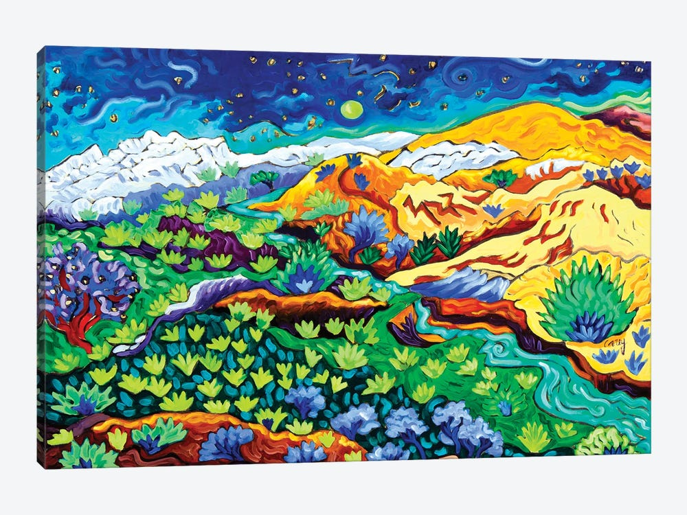Western Starlight by Cathy Carey 1-piece Canvas Print