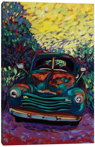 Good Morning Old Truck Canvas Art Print