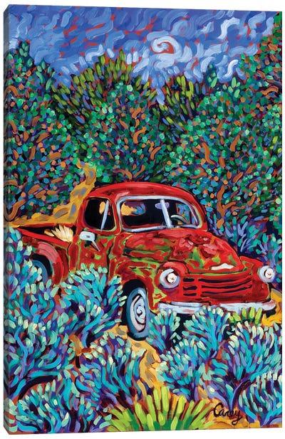 Little Red Truck Canvas Art Print
