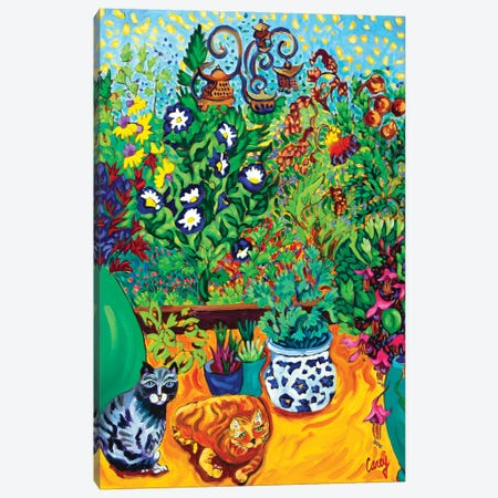 Los Gatos Garden Canvas Print #CTC7} by Cathy Carey Canvas Print