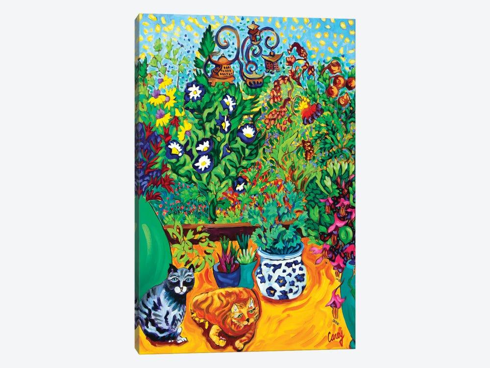 Los Gatos Garden by Cathy Carey 1-piece Canvas Print