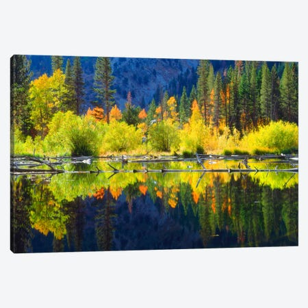 Vibrant Mountain Landscape And Its Reflection, Sierra Nevada, California, USA Canvas Print #CTF11} by Christopher Talbot Frank Canvas Art
