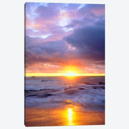 Majestic Sunset, Sunset Cliffs Natural Park, San Diego, California, USA Canvas Print #CTF12} by Christopher Talbot Frank Canvas Wall Art
