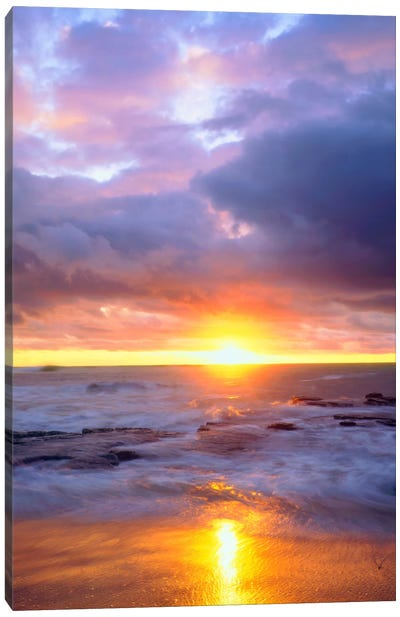 Majestic Sunset, Sunset Cliffs Natural Park, San Diego, California, USA Canvas Art Print