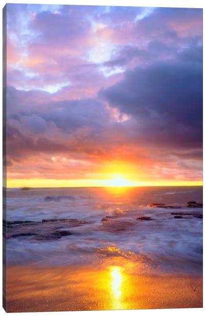 Majestic Sunset, Sunset Cliffs Natural Park, San Diego, California, USA Canvas Art Print