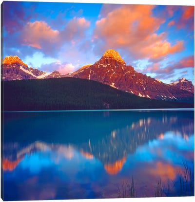 Sunrise, Banff National Park, Alberta, Canada Canvas Print #CTF2