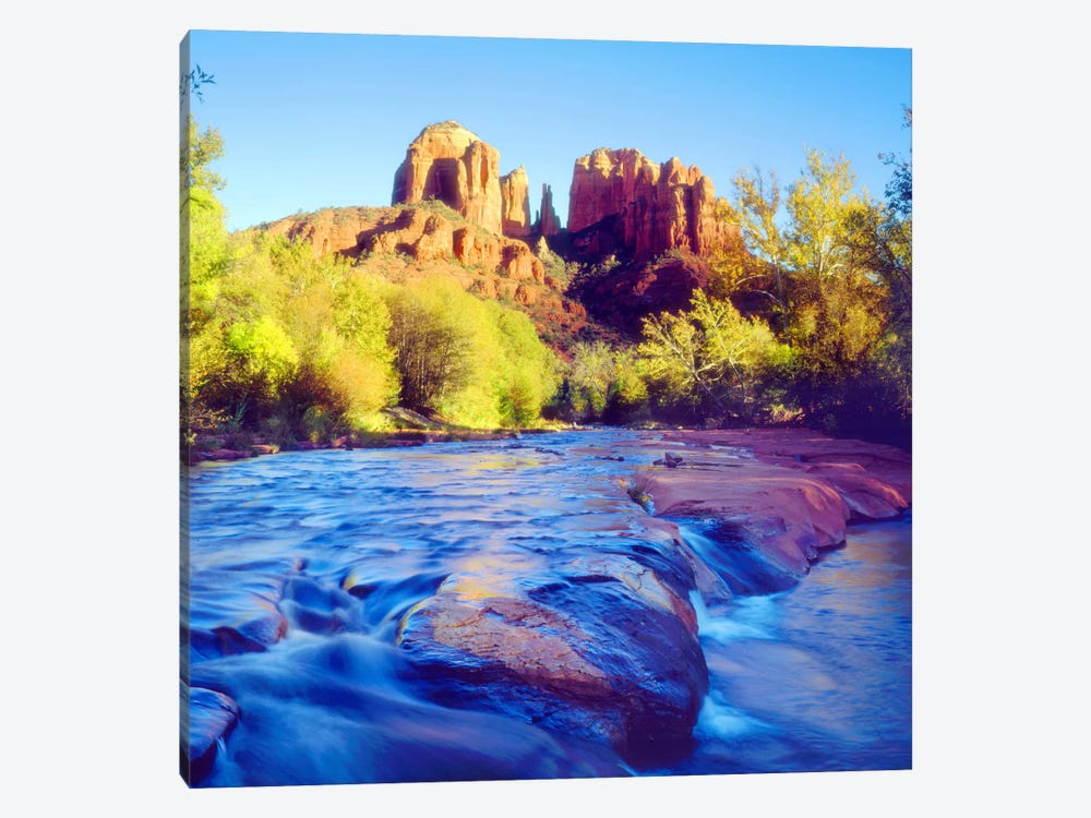 Cathedral Rock With Oak Creek In The Foreground, Coconino National Forest, Yavapai County, Arizona, USA by Christopher Talbot Frank 1-piece Canvas Wall Art