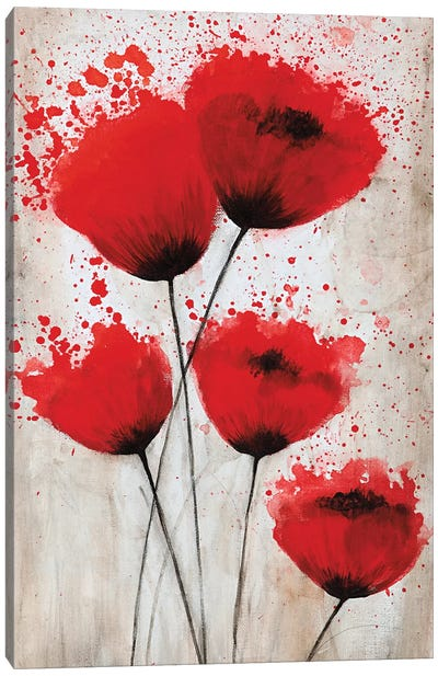 Luminous Crimson II Canvas Art Print