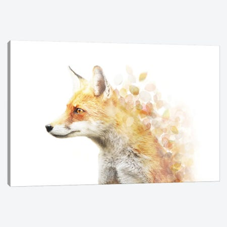 Winter Foxy Canvas Print #CTI100} by Emanuela Carratoni Canvas Art