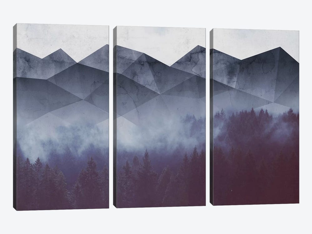 Winter Glory by Emanuela Carratoni 3-piece Canvas Art