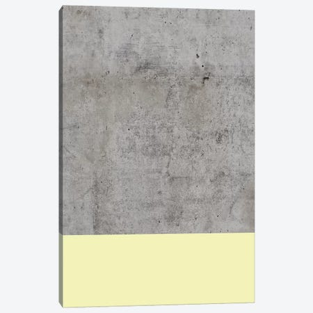 Yellow On Concrete Canvas Print #CTI102} by Emanuela Carratoni Canvas Wall Art