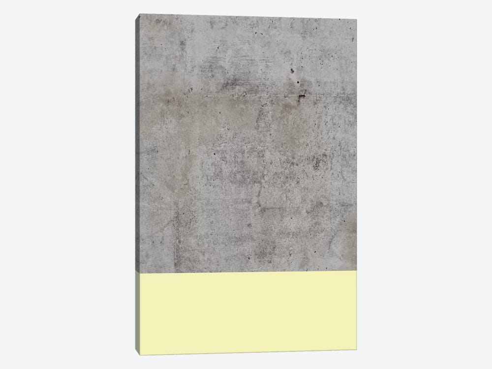 Yellow On Concrete by Emanuela Carratoni 1-piece Art Print