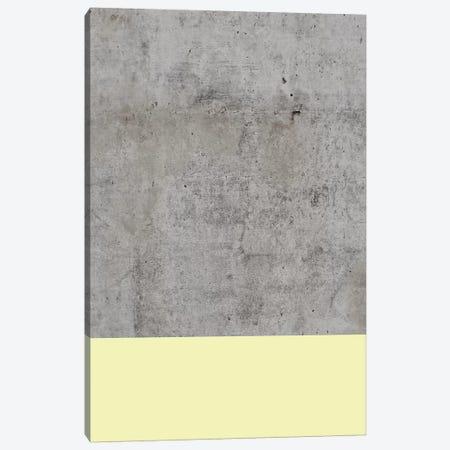 Yellow On Concrete Canvas Print #CTI102} by Emanuela Carratoni Canvas Wall Art