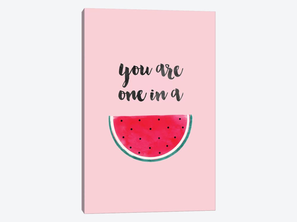 You Are One In A Watermelon by Emanuela Carratoni 1-piece Canvas Wall Art