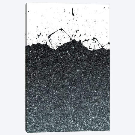 Black Splatter Theme Canvas Print #CTI10} by Emanuela Carratoni Canvas Print