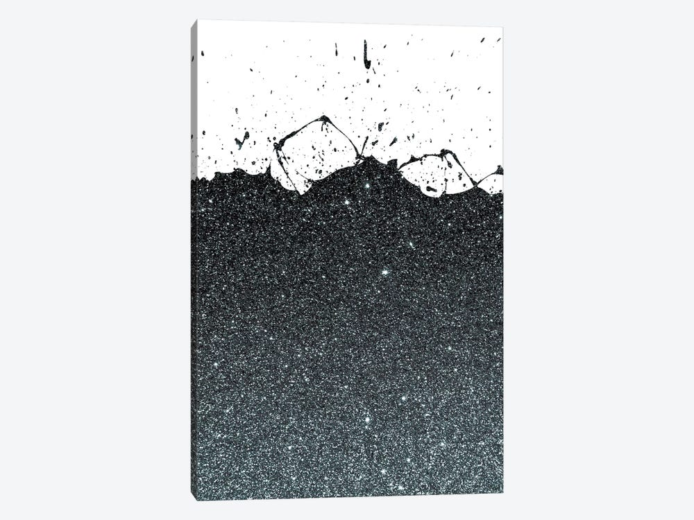 Black Splatter Theme by Emanuela Carratoni 1-piece Canvas Art