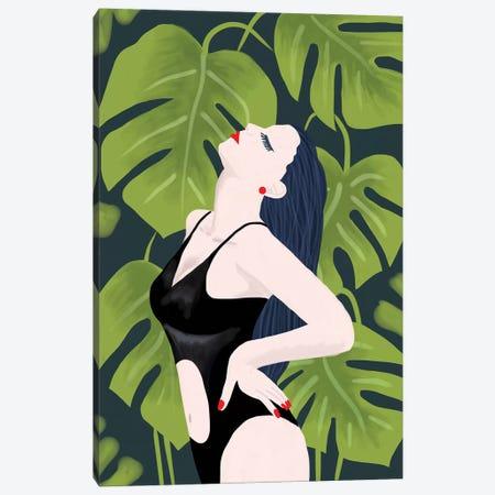 Monstera Girl Canvas Print #CTI113} by Emanuela Carratoni Art Print