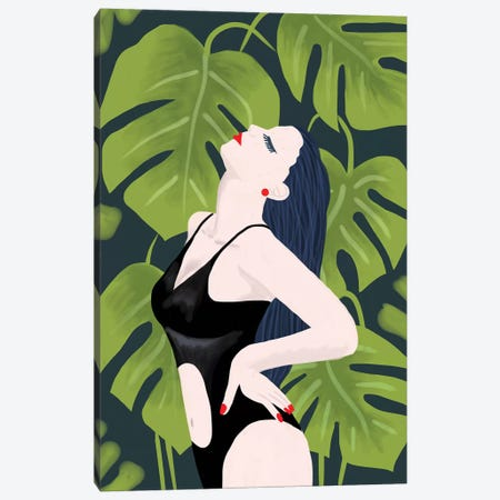 Monstera Girl Canvas Print #CTI113} by Emanuela Carratoni Art Print