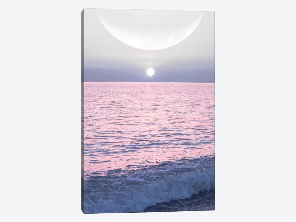 Moon And Sun On The Sea by Emanuela Carratoni 1-piece Canvas Wall Art
