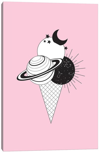 Planet Icecream Canvas Art Print