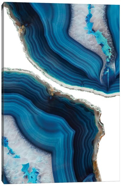 Blue Agate Canvas Art Print