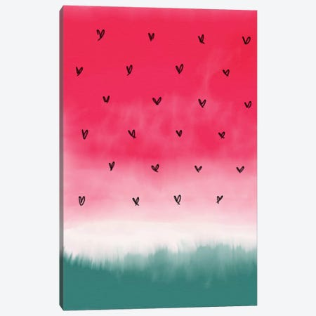 Watermelon Theme Canvas Print #CTI121} by Emanuela Carratoni Canvas Artwork