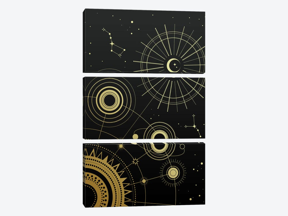 Infinity by Emanuela Carratoni 3-piece Canvas Print