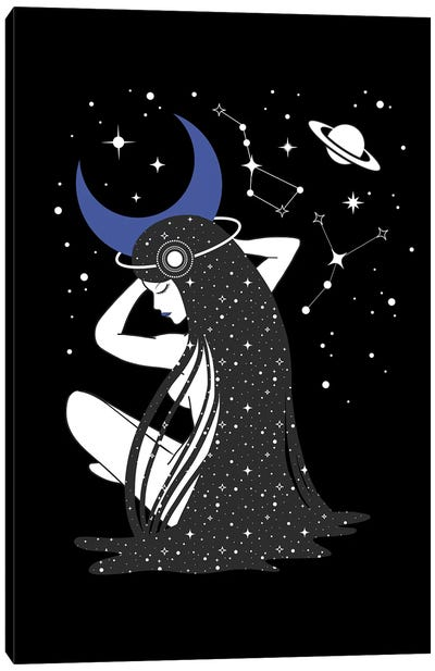 Moon Godness by Emanuela Carratoni Canvas Art Print