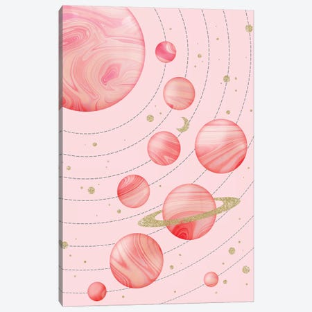 Pink Solar System Canvas Print #CTI136} by Emanuela Carratoni Canvas Art