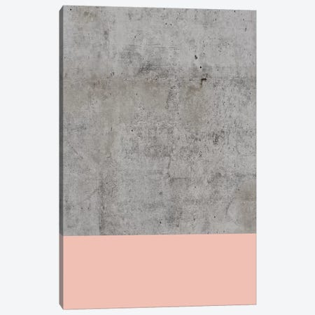 Blush On Concrete Canvas Print #CTI13} by Emanuela Carratoni Art Print