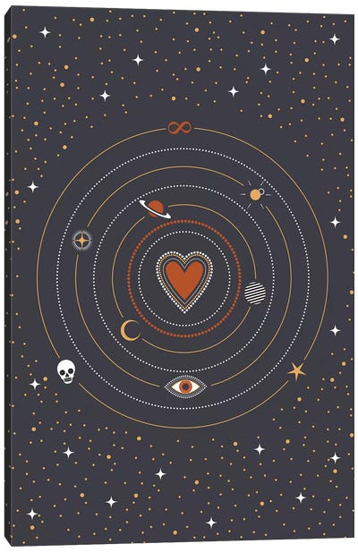 Charms Universe Canvas Art Print