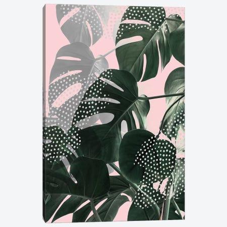 Monsteras On Pink 3-Piece Canvas #CTI152} by Emanuela Carratoni Canvas Print
