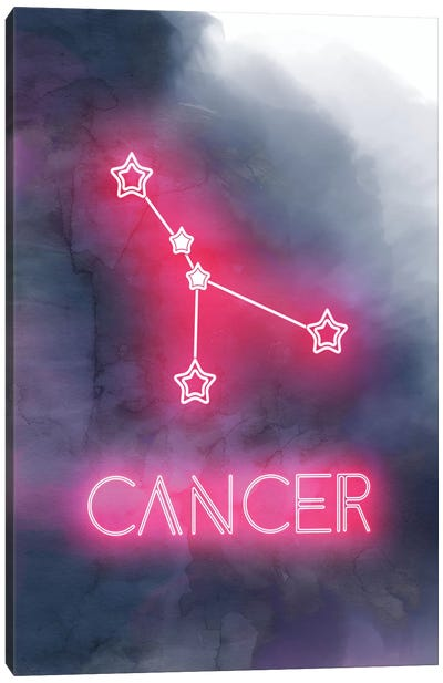 Cancer Zodiac Sign Canvas Art Print
