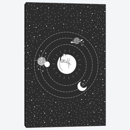 Space Cat Canvas Print #CTI161} by Emanuela Carratoni Canvas Art