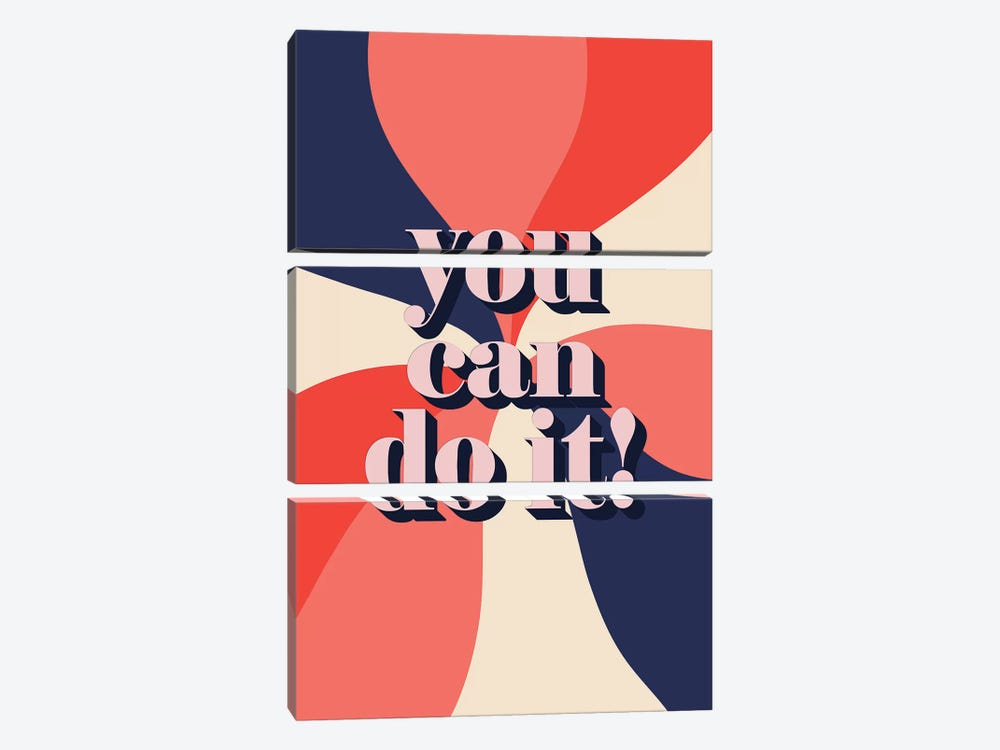 You Can Do It by Emanuela Carratoni 3-piece Canvas Art