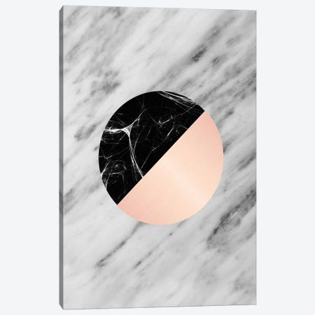 Carrara Italian Marble Black And Pink Canvas Print #CTI17} by Emanuela Carratoni Canvas Art